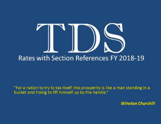 TDS Rates 2018-19 Image