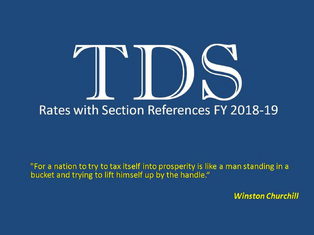 TDS rates 2018-19 with section references in Income Tax of Bangladesh
