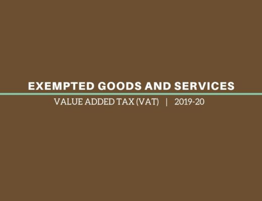 Exempted Goods and Services