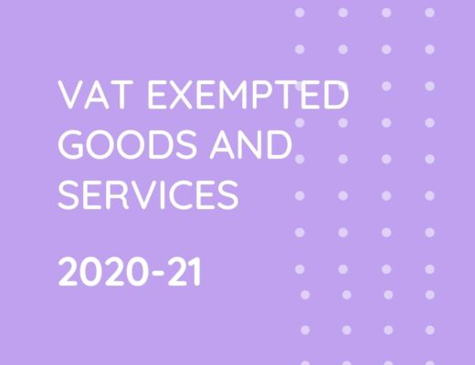 VAT Exempted Goods and Services 2020-21