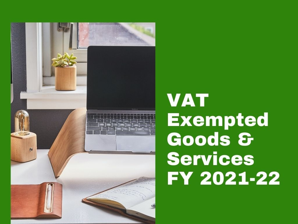 VAT exempted goods and services list
