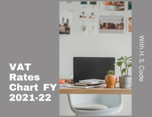 VAT Rates Chart FY 2021-22